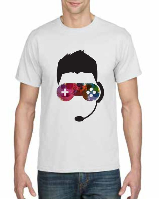 Gaming design printed t-shirt