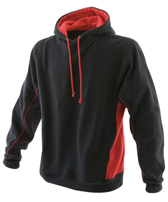 Contrast Teamwear Hoodie Black / Red