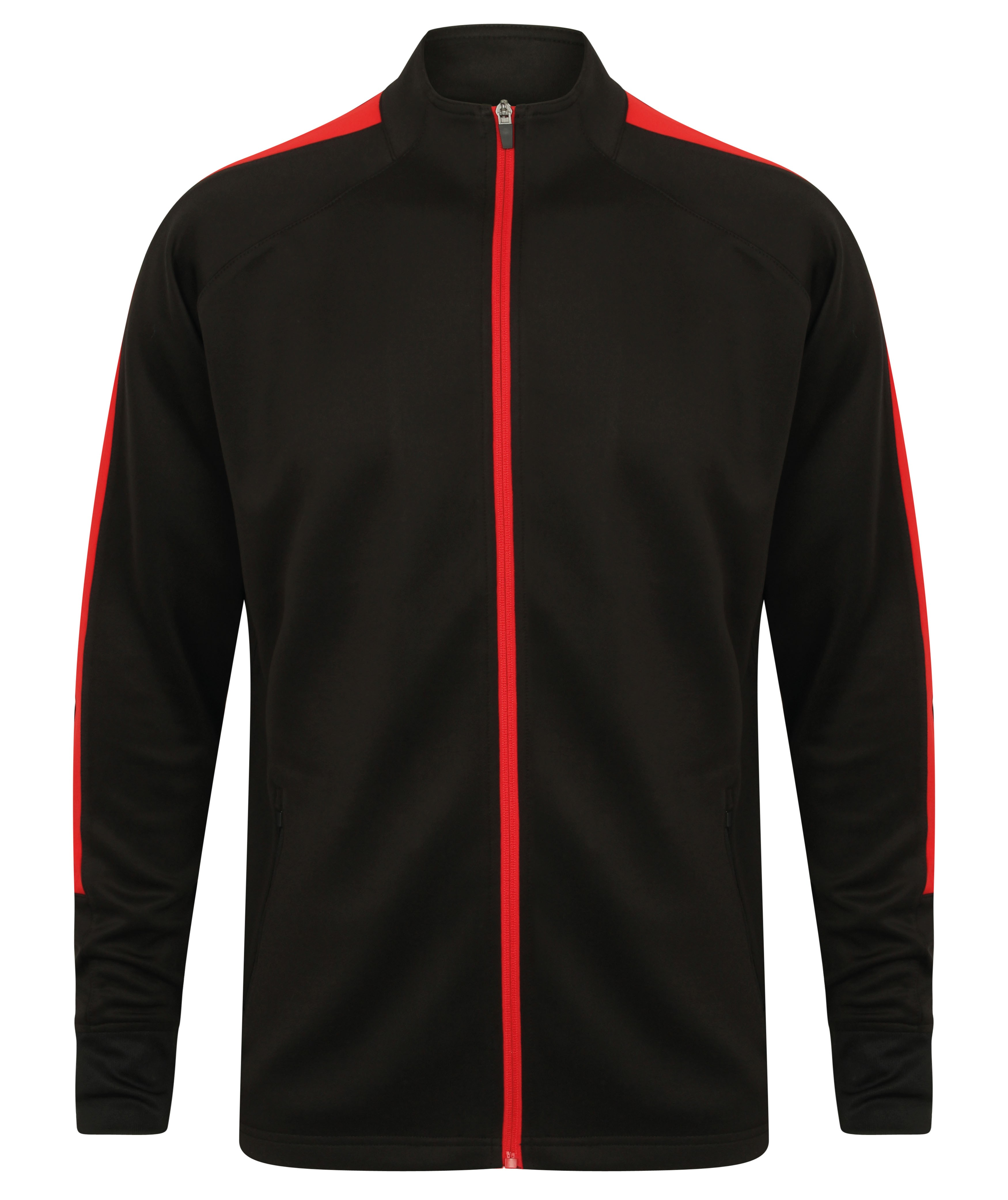 Knitted Teamwear Tracksuit Top Black / Red