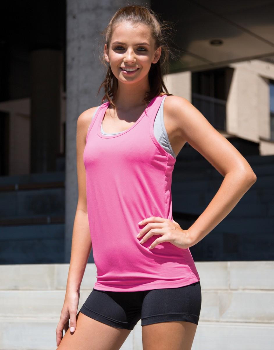 S281F Womens Spiro Impact Softex Fitness Top