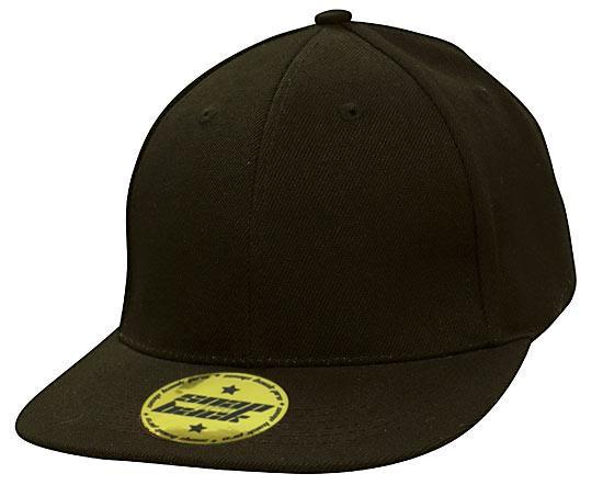 Snap Back Premium American Twill Cap in Black