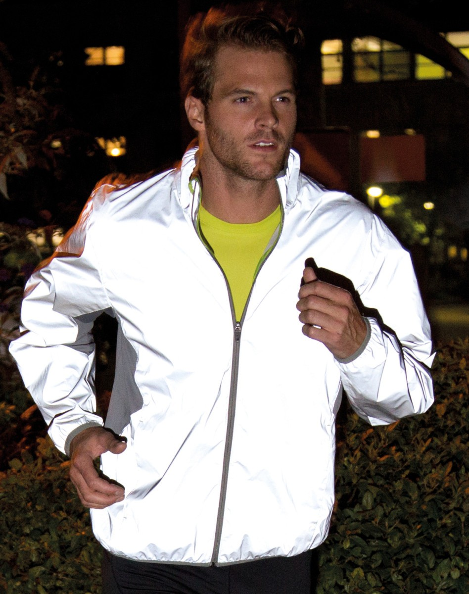 Spiro Reflective Neon White Sports Jacket