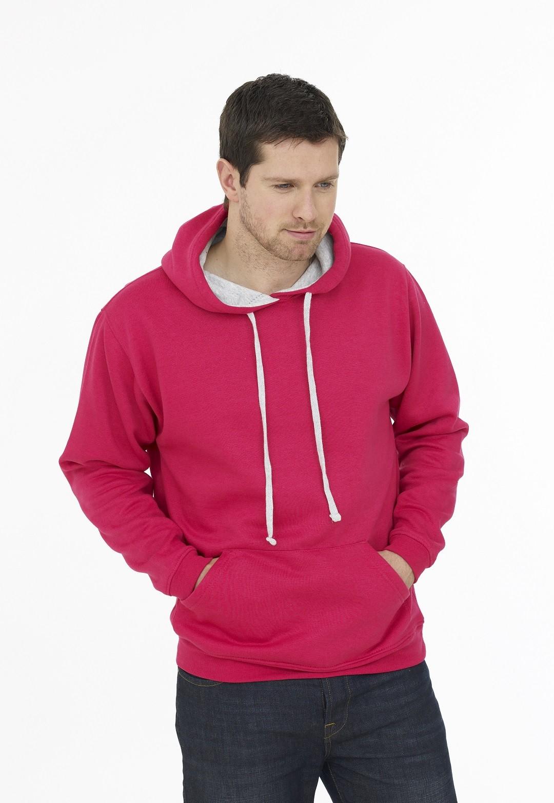 Unisex Contrast Hooded Sweatshirt