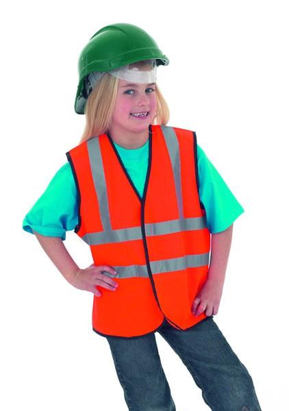 Bertram UK Child's Hi-Vis Sleeveless Safety Waist Coat