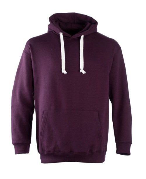 Hoodie with Contrast Hood Cords