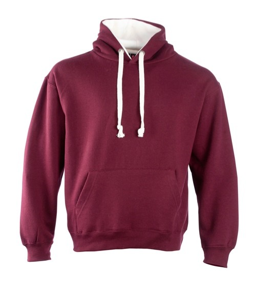 Contrast Hoodie with ipod and phone pocket