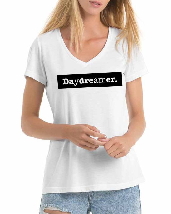 Womens Daydreamer V neck print t-shirt