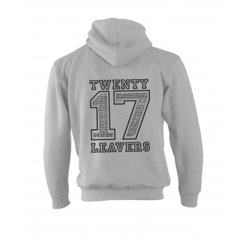 2017 Leavers Heather Grey Hoodie with Black Print