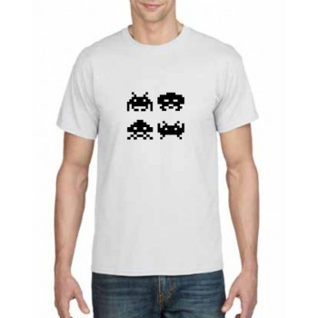 Space invaders design printed t-shirt