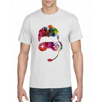 Gaming multi colour design printed t-shirt