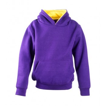 Kids Contrast Hoodie with ipod and phone pocket