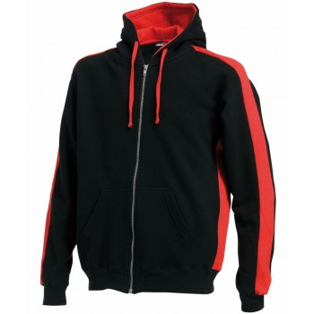 Full Zip Hoodie Black / Red