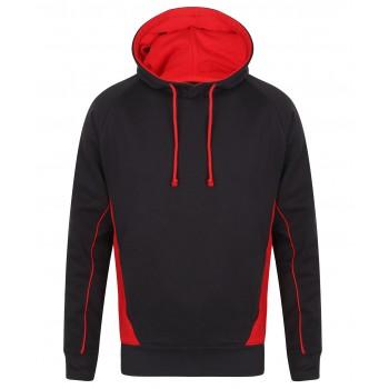 Kids Contrast Teamwear Hoodie Navy / Red