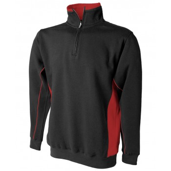 1/4 Zip Teamwear Sweatshirt Black / Red