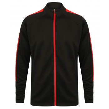Kids Knitted Teamwear Tracksuit Top Black / Red