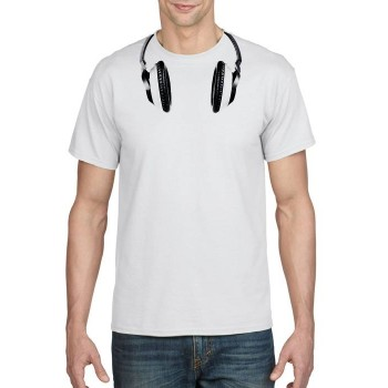 Mens headphones printed t-shirt