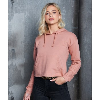 Girlie relaxed fit cropped hoodie