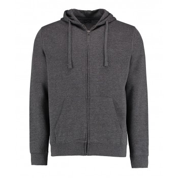 Klassic 60 degree superwash zipped hoodie in Marl Grey