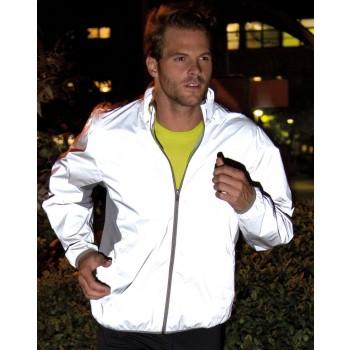 Spiro Reflective Neon White Sports Jacket
