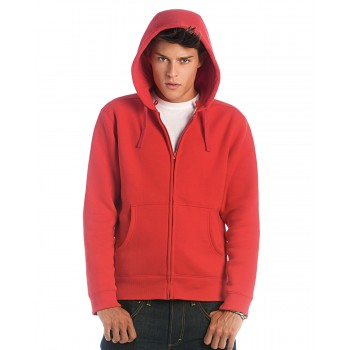WM647 B and C Hooded Men's Full Zip Sweat