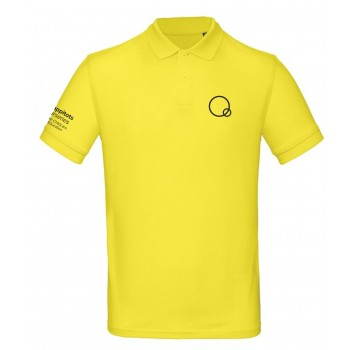 Yellow Mens Happitots Polo Black Logo
