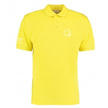 Yellow Happitots Polo White Logo
